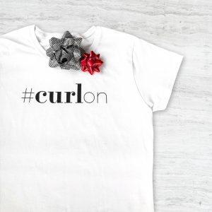 curl on t-shirt